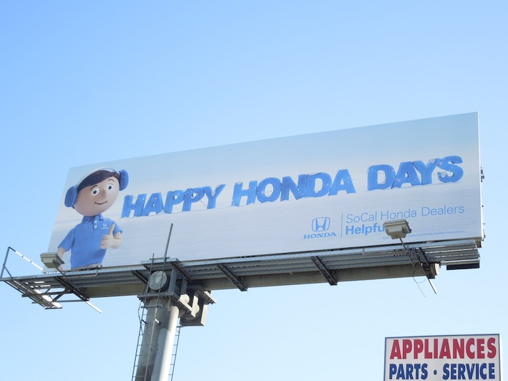 Happy Honda Days 2013 billboard