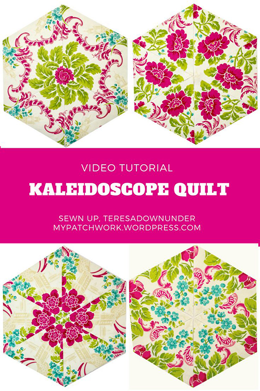 Kaleidoscope Floral Quilt Free Tutorial designed by Teresa of SewnUp Teresa DownUnder