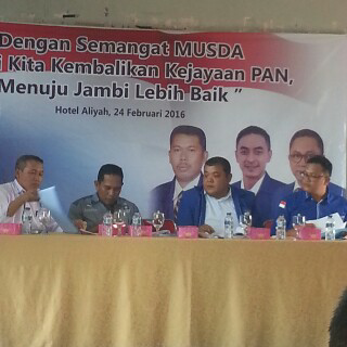 Musda PAN Tebo Dead Lock, Dikembalikan Ke DPW Jambi, Ini Alasannya?