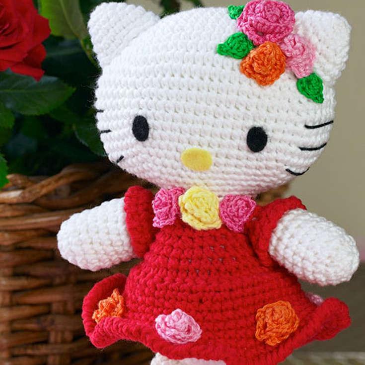 Hello Kitty Amigurumi | Gato de crochê, Artesanato croche ... | 735x735