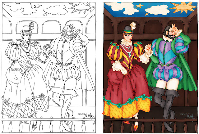 Shakespeare coloring page