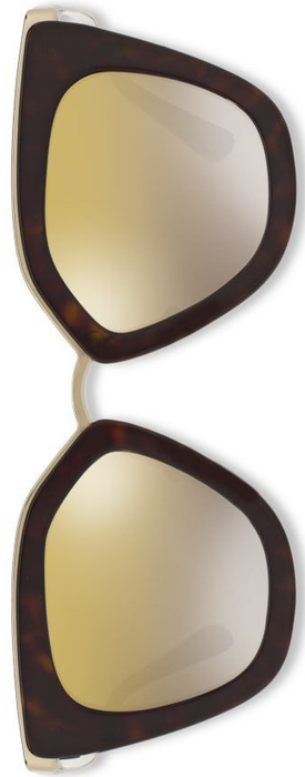 Prada 52MM Mirrored Cat's-Eye Sunglasses