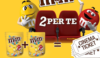 Logo Con M&M's vai al cinema gratis