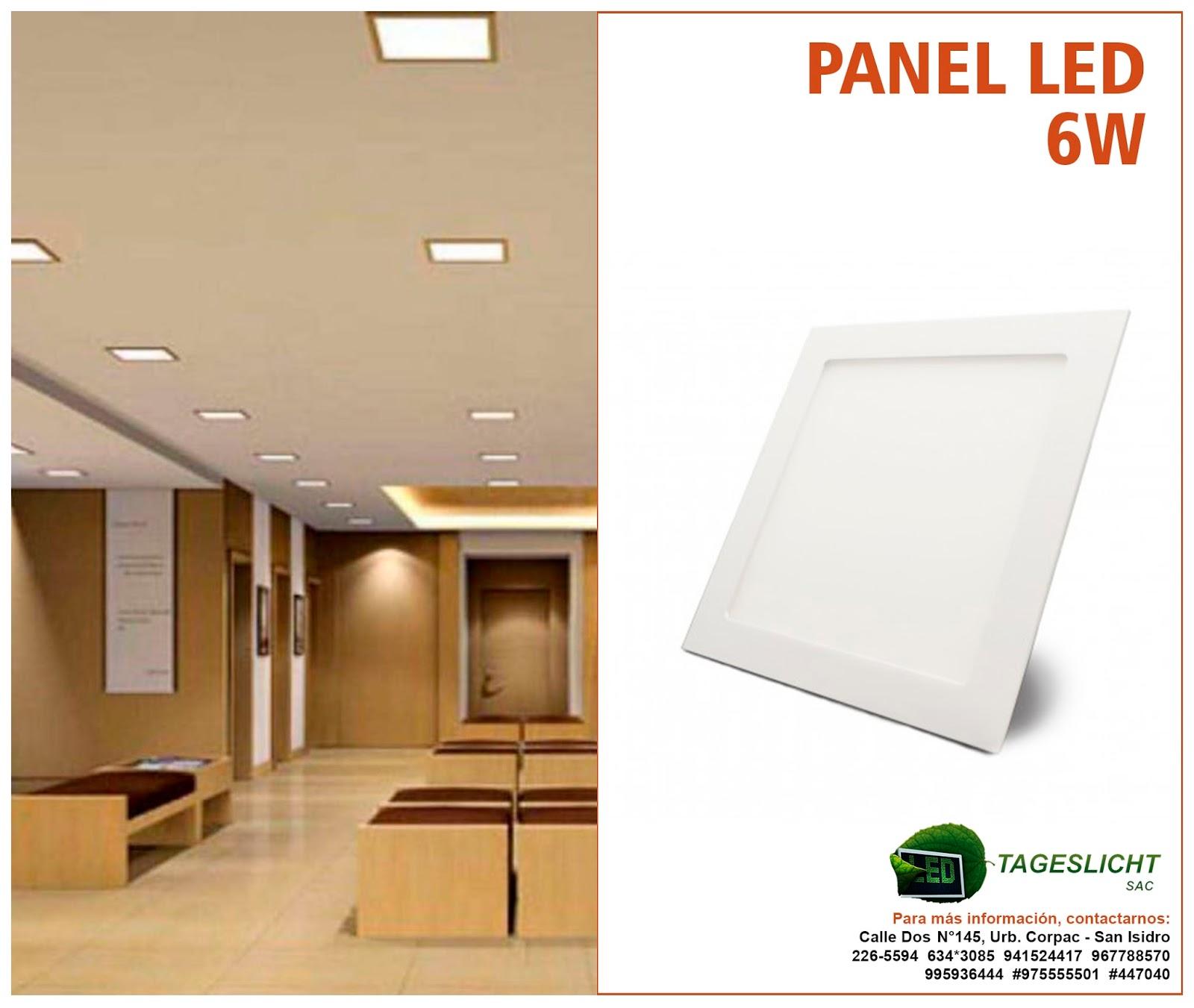 tageslicht iluminaci n led panel led 6w tageslicht sac. Black Bedroom Furniture Sets. Home Design Ideas
