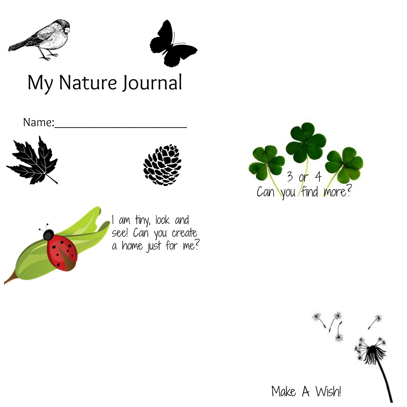 Crunchy Mom New Nature Journal Printables