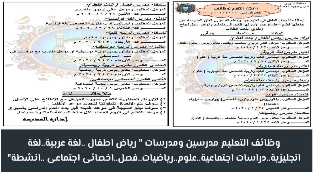 مدارس الجهاد الخاصة بالسويس AlGehad Private Schools In Suez