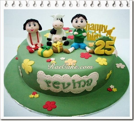 Chibi Marukochan Cake For Revina Kue Ulang Tahun