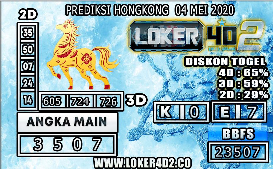 PREDIKSI TOGEL HONGKONG LOKER4D2 04 MEI 2020