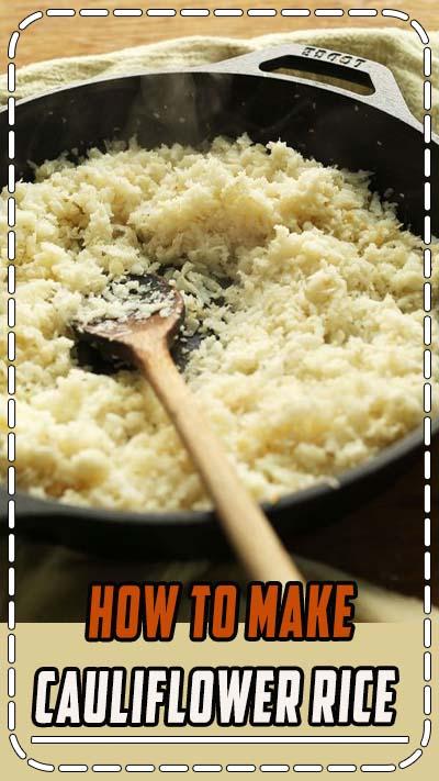 How to Make Cauliflower Rice #vegan #glutenfree #healthy #recipe