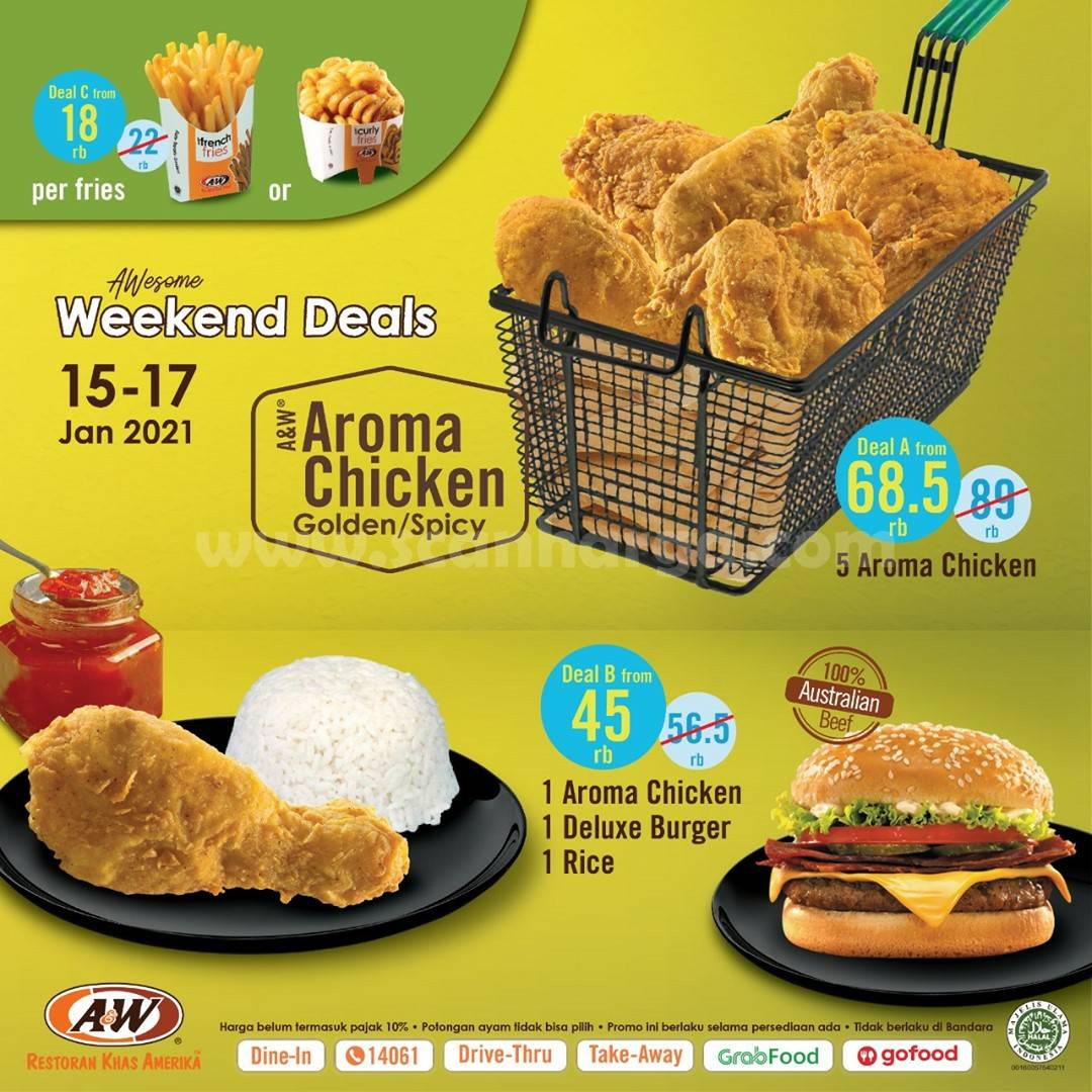 Promo AW Restoran Weekend Deals Periode 15 - 17 Januari 2021