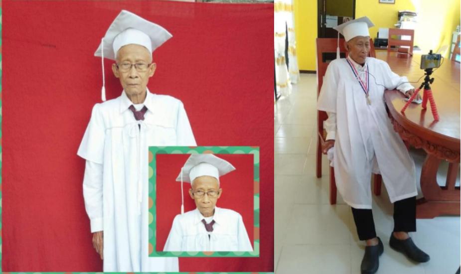 Lolo na 80-anyos proud na nakapagtapos ng Junior High School