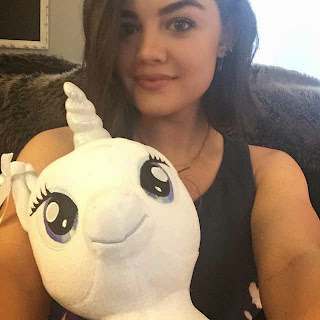 Lucy Hale with unicorn