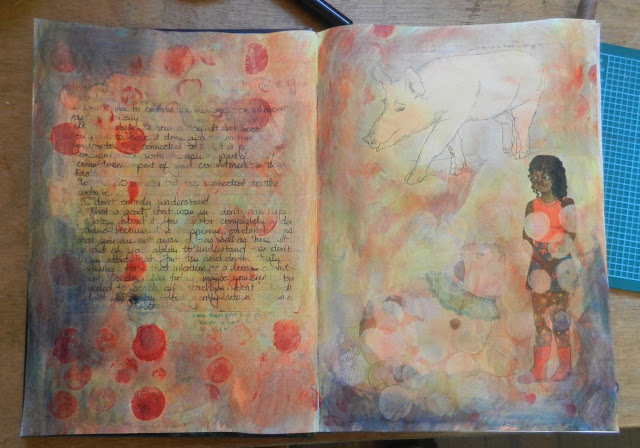art journal background
