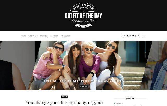 Outfit Responsive Personal Blog Fashions Lifestyle Blogger Template Theme