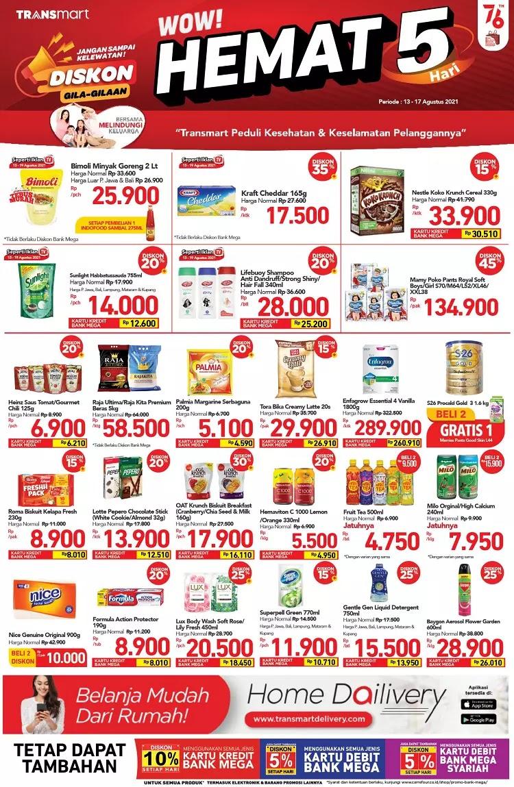 Katalog Produk Promo Transmart Mingguan 13-17 Agustus 2021