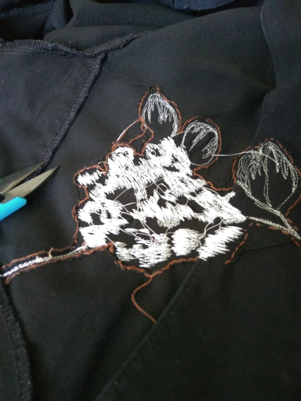 Repairing with Free Motion Embroidery