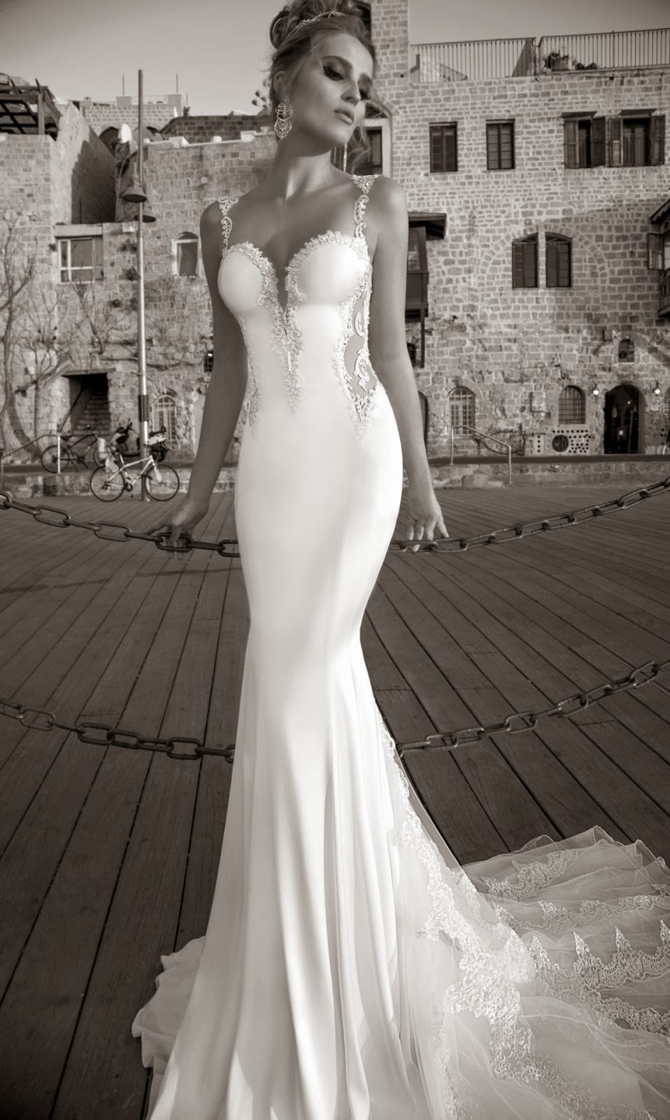 mermaid style gown by Galia Lahav