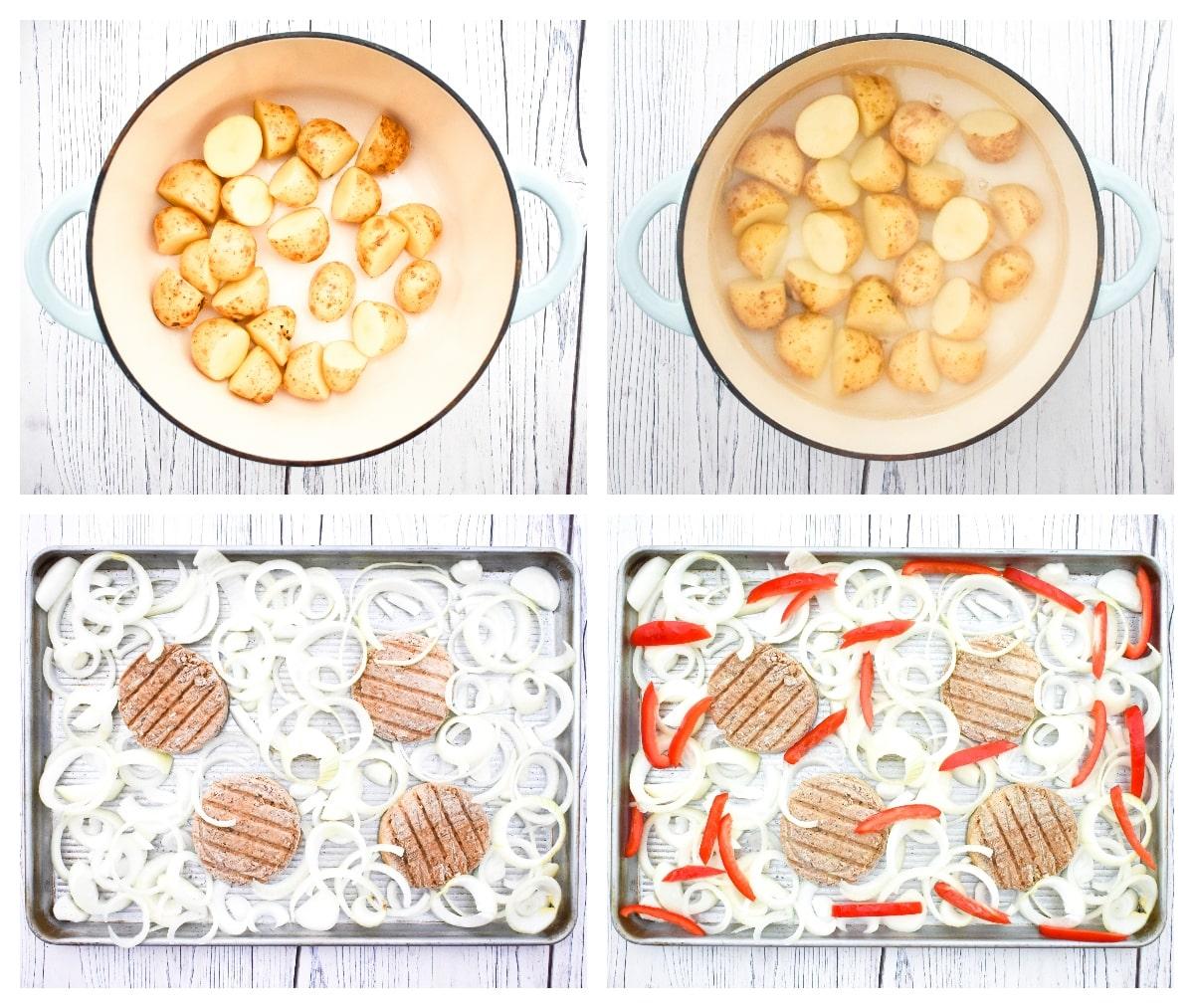 Vegan Burger & Onion Bake - Step 1