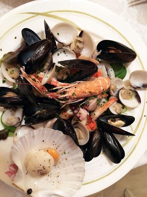 Meeresfrüchtesalat im Restaurant Al Marinaio