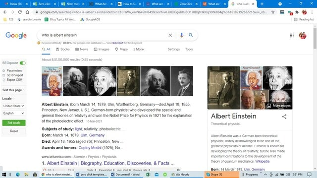Google Instant Answer example