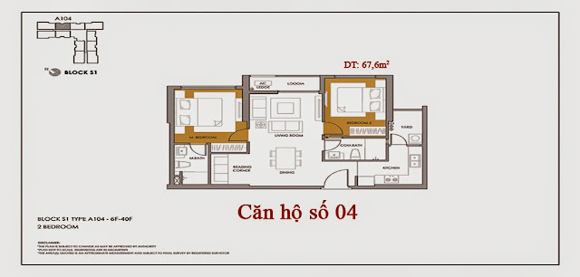 Thiết kế và danh sách căn hộ Seasons Avenue số 04 tòa S1