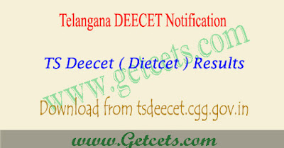 TS DEECET Results 2020-2021 manabadi, dietcet rank card download