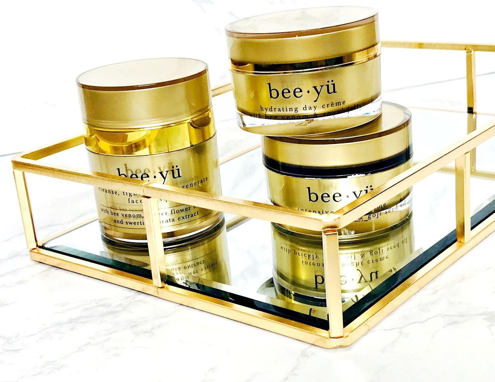 Bee-Yu skincare review, BEE YÜ FIRMING + REGENERATING FACE MASQUE, BEE YÜ INTENSIVE NIGHT CRÉME, BEE YÜ ULTRA-HYDRATING DAY CRÉME, Skincare giveaway