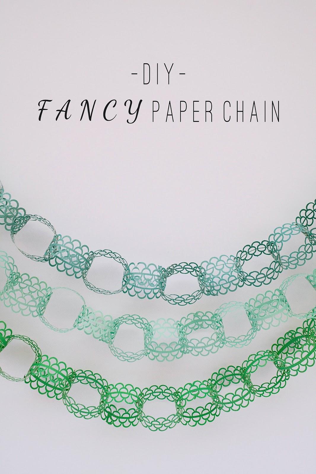 Diy Fancy Nails: TELL: DIY FANCY PAPER CHAIN