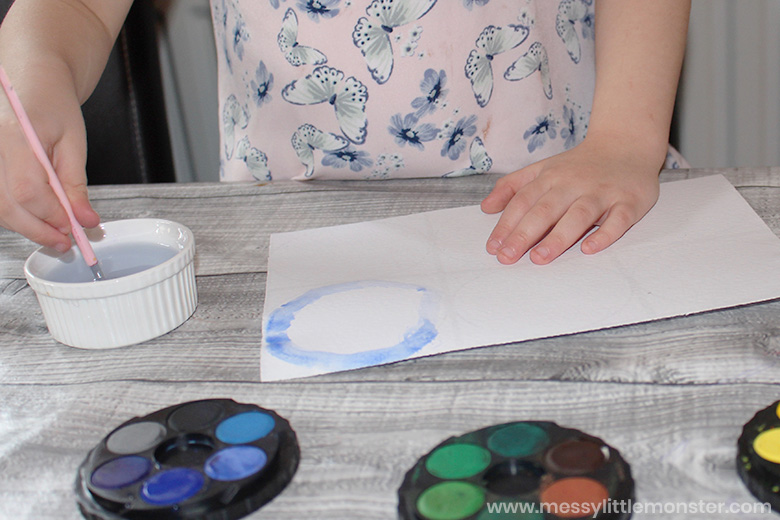 Kandinsky circles painting for kids
