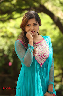 Actress Karunya Pictures in Salwar Kameez at Kannullo Nee Roopame Movie Opening  0082