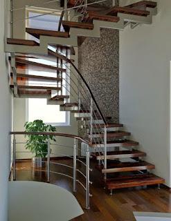 model desain tangga rumah minimalis