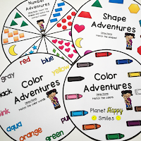 Color, Shape, and Number Wheels, Planet Happy Smiles