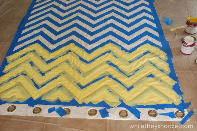 While They Snooze: DIY Chevron Curtains Tutorial