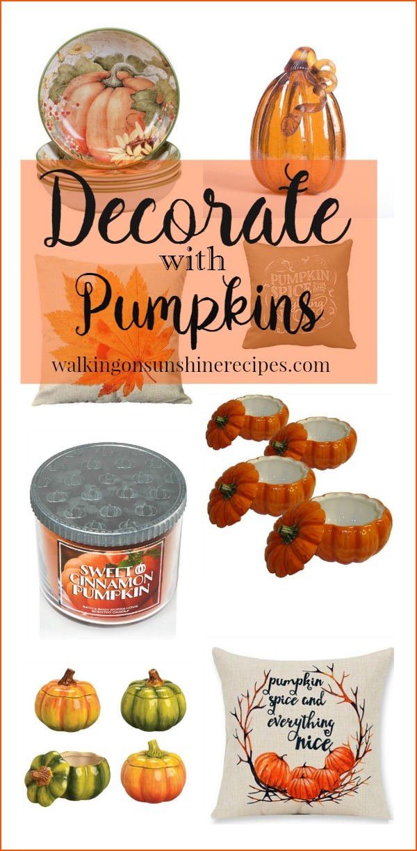 Pumpkin Decor: How to Decorate with Pumpkins for Fall from Walking on Sunshine