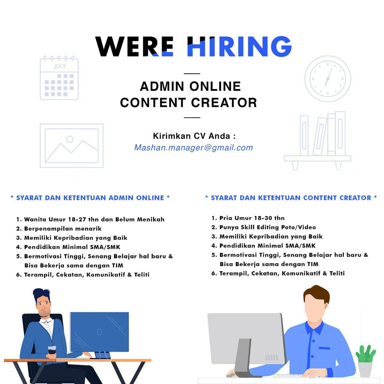 Lowongan Kerja Admin Online Content Creator Bandung April 2021