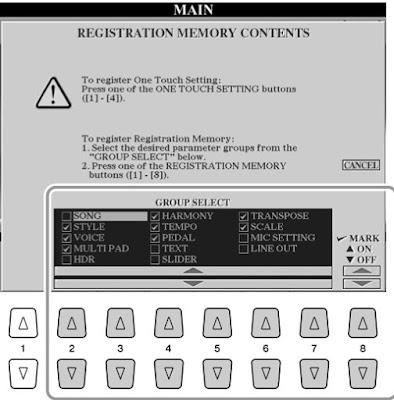 Cara Mengisi OTS Atau One Touch Settings Pada Yamaha PSR