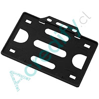 Porta credencial simple negro horizontal