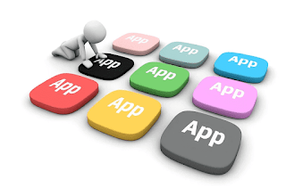 Mobile apps, Application concept, App buttons