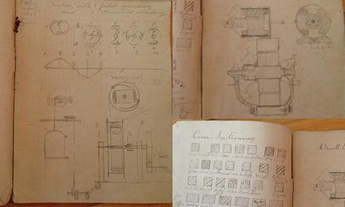 Inheritance manuscript of Tesla generator