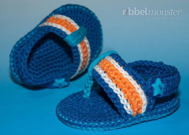 Como hacer Sandalias  Hawaianas de Crochet