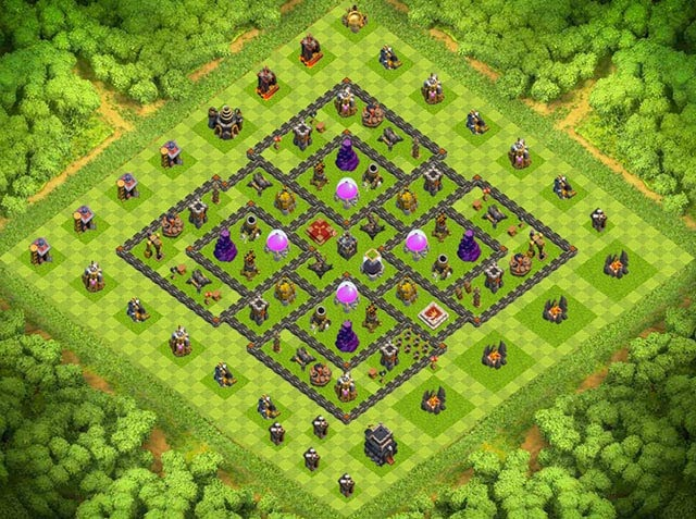 Base Town Hall 9 Clash of Clans Farming