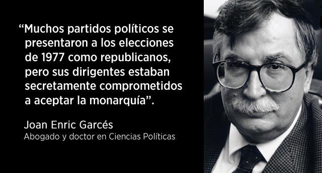 """Joan Enric Garcés: """"La monarquía actual tiene un origen ilegítimo"""""""