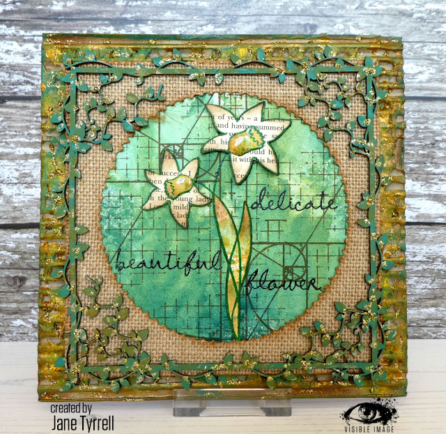 daffodil stamp | canvas | wall hanging