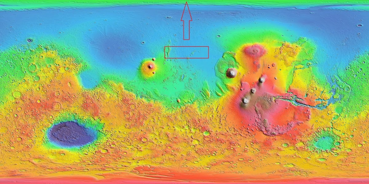 Mars heightmap (180° in center)