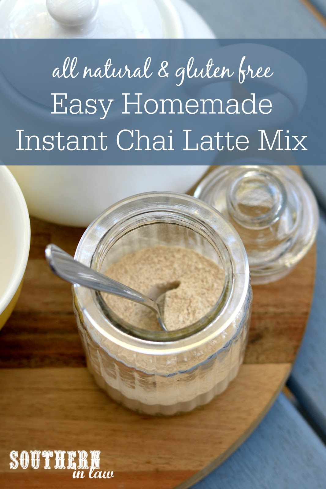 Easy DIY Instant Chai Latte Mix Recipe - gluten free, paleo, vegan, healthy