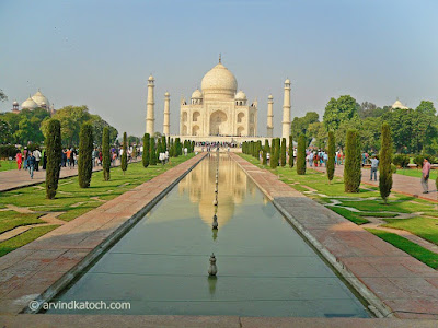 Agra, picture, Taj Mahal, Taj Picture, Reflection View