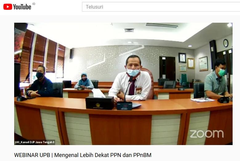 Gandeng UPB, Kanwil DJP Jateng II Gelar Webinar PPN dan PPnBM