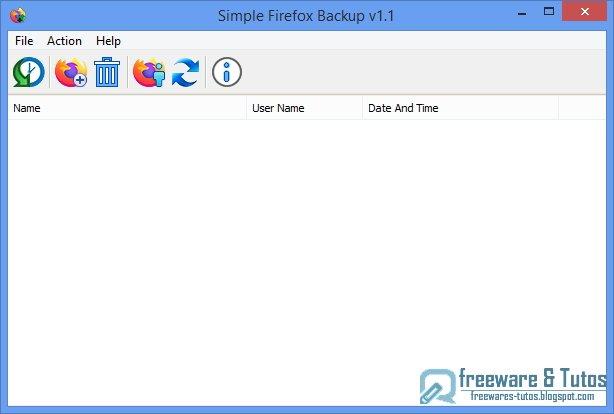 Simple Firefox Backup : un outil portable pour sauvegarder et restaurer Firefox