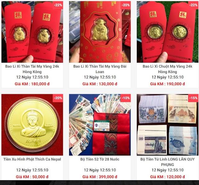 Phong phú tiền lì xì Tết lấy lộc đầu năm 2021