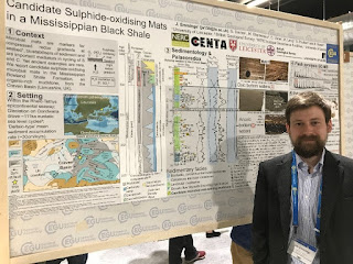 Joe Emmings presenting research at the European Geosciences Union General Assembly
